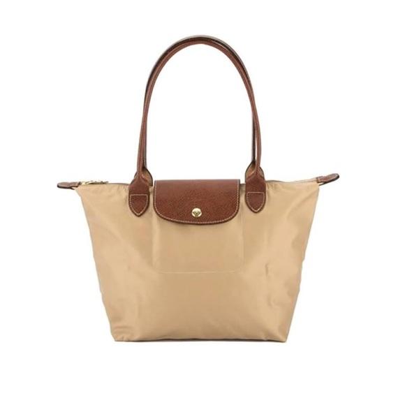 Longchamp Handbags -  SALE  Longchamp Le Pliage Medium Beige Tote 0fdfcea16c810